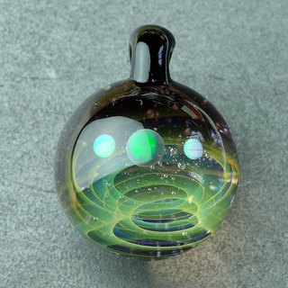 Satellite Universe Planets Space Handmade Lampwork Glass Pendant