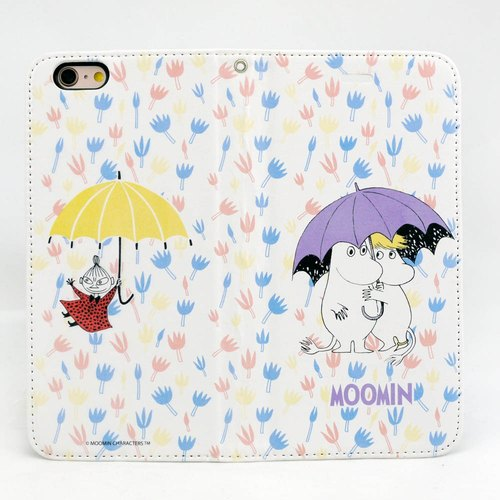 "Moomin Moomin genuine authority - Magnetic phone holster: [under the umbrella of the World (white)] ""iPhone / Samsung / HTC / ASUS / Sony"""