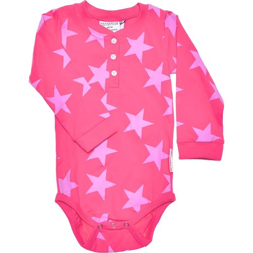 Nordic organic cotton children's clothing trend stars pack fart clothing / pink