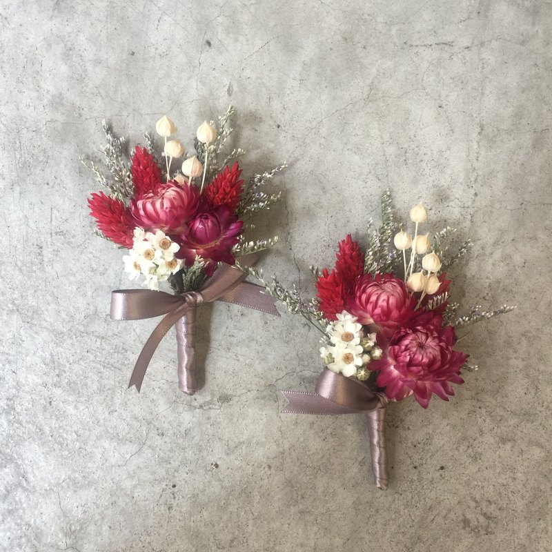 Dry brooch | groom boutonniere | main wedding boutonniere | custom boutonniere