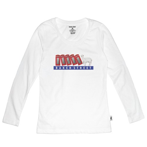 British Fashion Brand [Baker Street] Domino Printed Long Sleeve