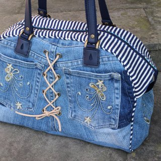Love the Earth handmade jeans restructuring package * Boston bag | choose your favorite fabric