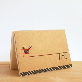 Handmade A6 Notebook - #TIC-TAG-TOE (手工缝制小本子)