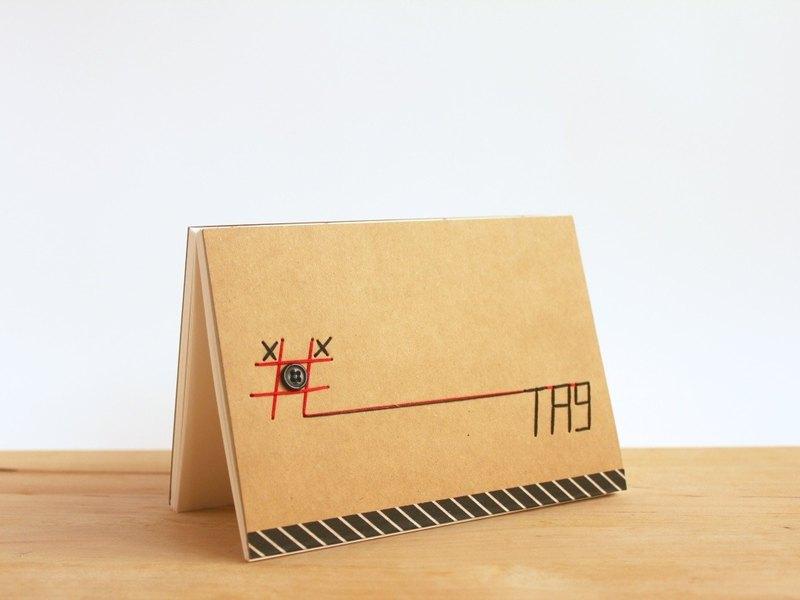 手工製作A6筆記本 - #TIC-TAG-TOE(手工縫製小本子)
