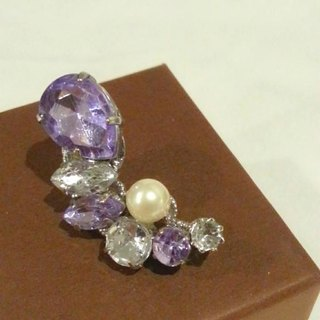 Light Purple × clear Bijou Iyakafu silver