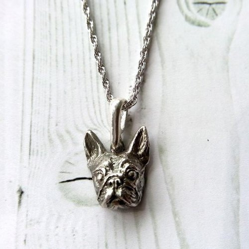Boston Terrier · silver925 made pendant (boston terrier Bosuteri Buhi BUHI)
