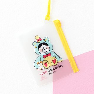 啰登登系列XS small card storage bag (hanging) 03. Teddy