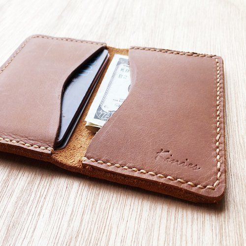 PERSONALIZED GENUINE LEATHER Card Holder / Slim Wallet / Leather Wallet / Bifold