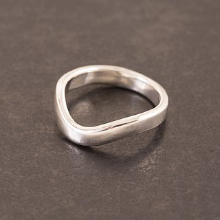 Curve Ring Lecture Ring - Silver - Breeze