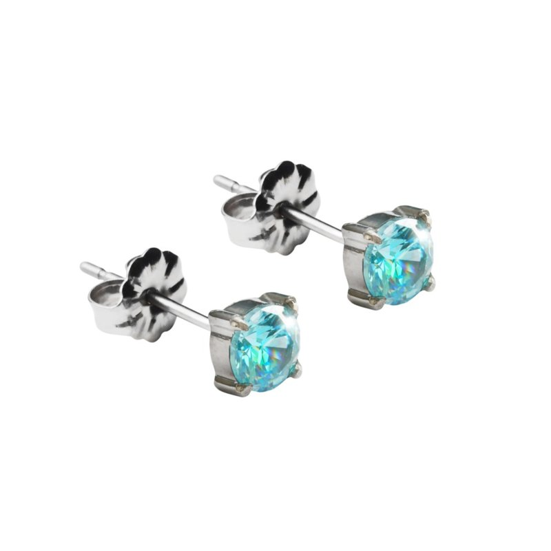 Pure - a pair of pure blue titanium ear