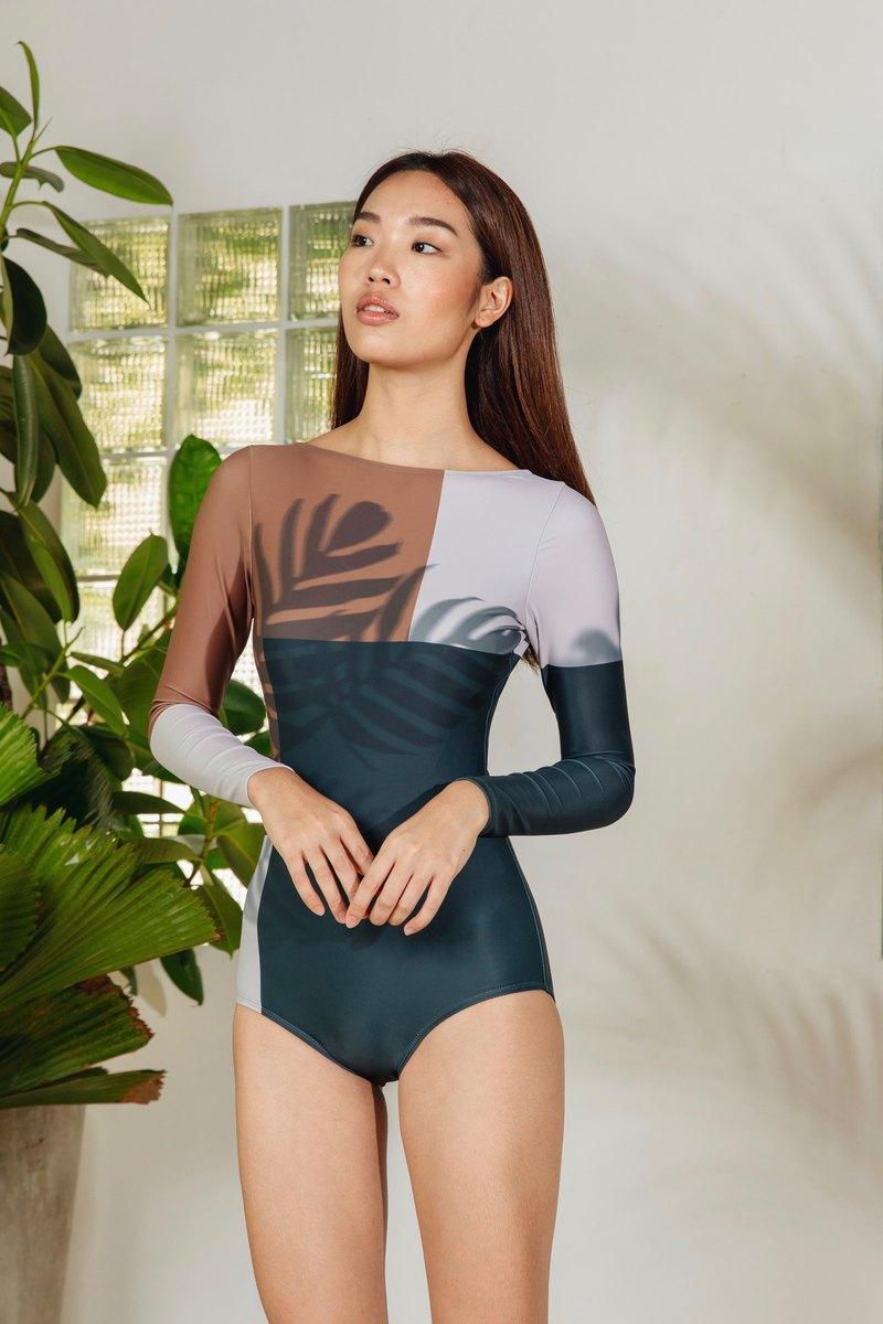 Midsummer Night's Warm night long sleeve swimsuit
