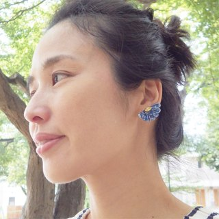Semi Circle · Flower Earrings swarovski 14Kgf