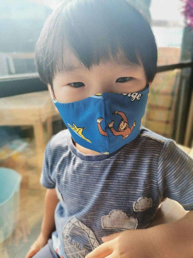 布口罩一套,可調節頸帶的兒童-成人猴子(2件同尺寸)