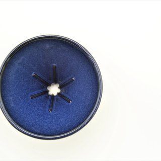 Customer-friendly blue and blue conical six ribs 01 filter cups
