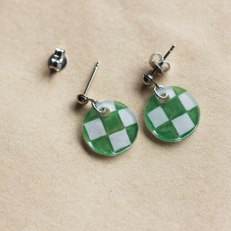City pine - pin clip earrings