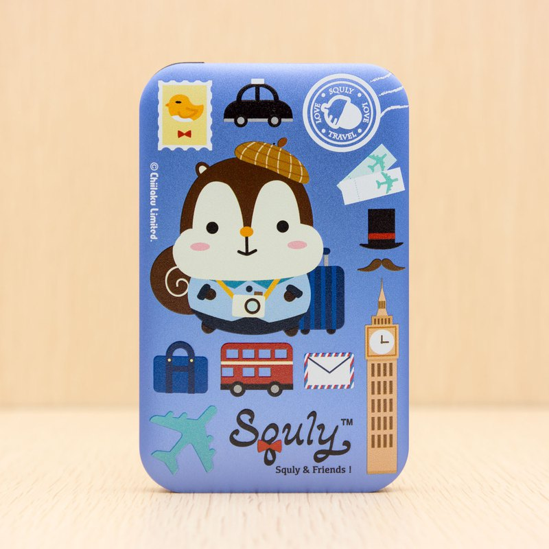 Powerbank (8000mAh) with Squly & Friends traveling theme
