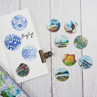 Mstandforc The Tiny Landscape - Taiwan Stickers  (8 pcs)