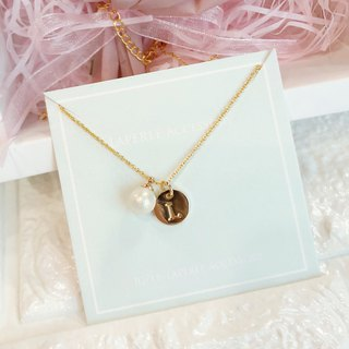 Faux Pearl Personalized Dry Flower Box Necklace  Birthday Bridesmaid