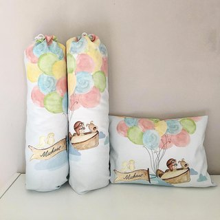 Balloon Baby Bolster and Pillow Gift Set