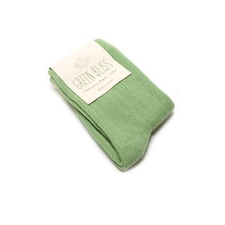 GREEN BLISS Organic Cotton Socks - [Baby Series] Amazon Sprout Green