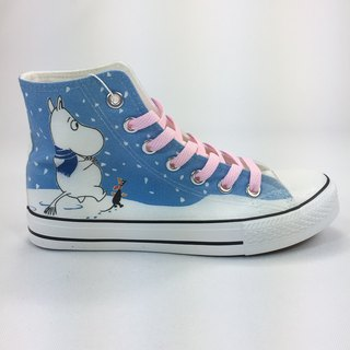 Moomin Moomin license - canvas shoes (white shoes pink) -AE11