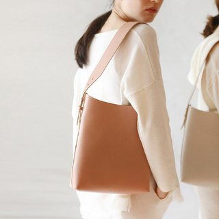 Simple shoulder tote bag retro leather handbag