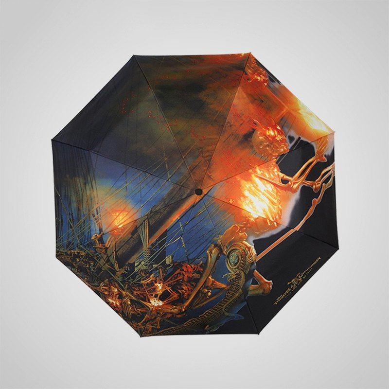 [Germany kobold] Disney official authorized -8K rain and rain dual-use umbrella God ghost Qihang series - pirate ship