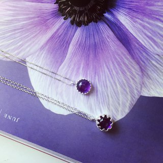925 sterling silver romantic purple [amethyst necklace]