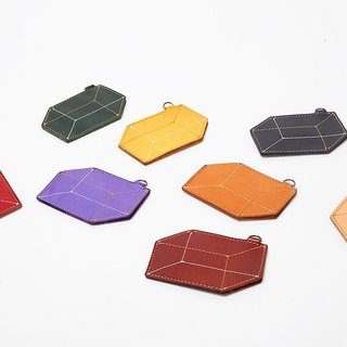 New AMEET color colour series vegetable tanned leather geometric box card set 8 colors