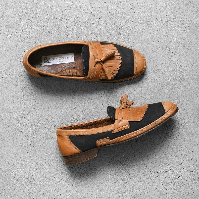 conte romanello 流蘇樂福鞋/Vintage古著