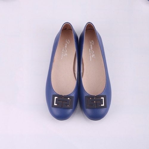 Maffeo doll shoes ballet shoes million words soft Japanese calfskin doll shoes (blue)