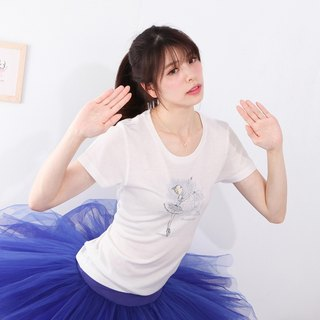 Yizhi Ballet | Sleeping Beauty Bluebird Ballet Round Neck Cotton Short Sleeve T-Shirt