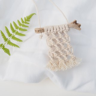 【 Macramé x Guava wood Collection 】Necklace │ Handwoven │Openwork