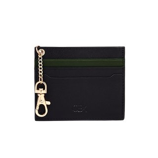 OBX 2-Tone Cardholder with Key Chain, Black/Kale