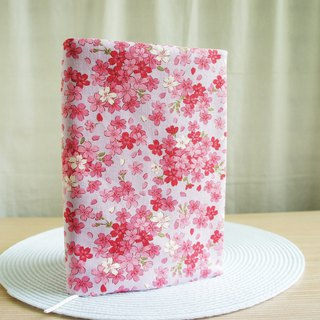 Lovely [double-sided cloth book clothing pink cherry blossom] cloth book cover 25 open 15X21cm [A5 PDA]