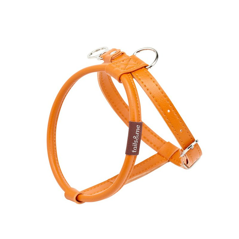 [tail and me] natural concept leather chest strap autumn maple orange S