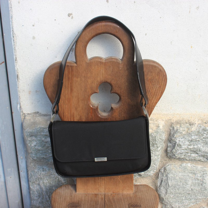 Made in Italy Vintage Black Shoulder Bag (Birthday Gift)