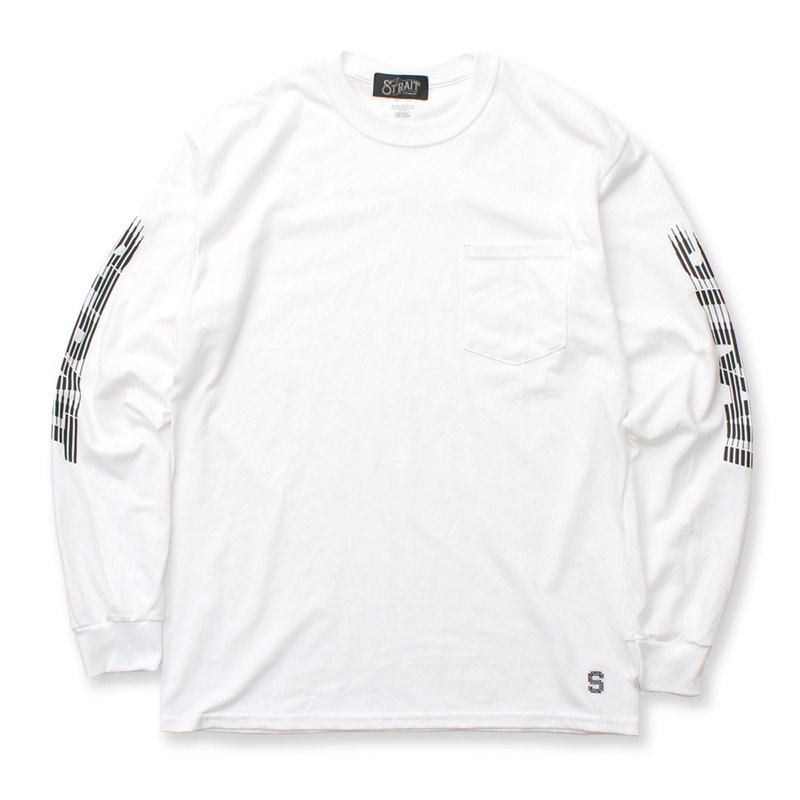 MOTION LOGO LS-T #WHITE / THE STRAIT ストレイト