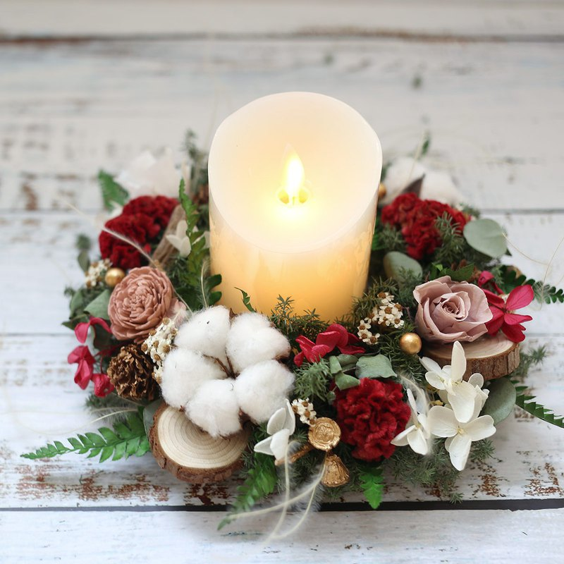 璎珞 Manor*WR22*Christmas Wreath / Everlasting Flower. Dry Flower / White Christmas / Exchange Gift