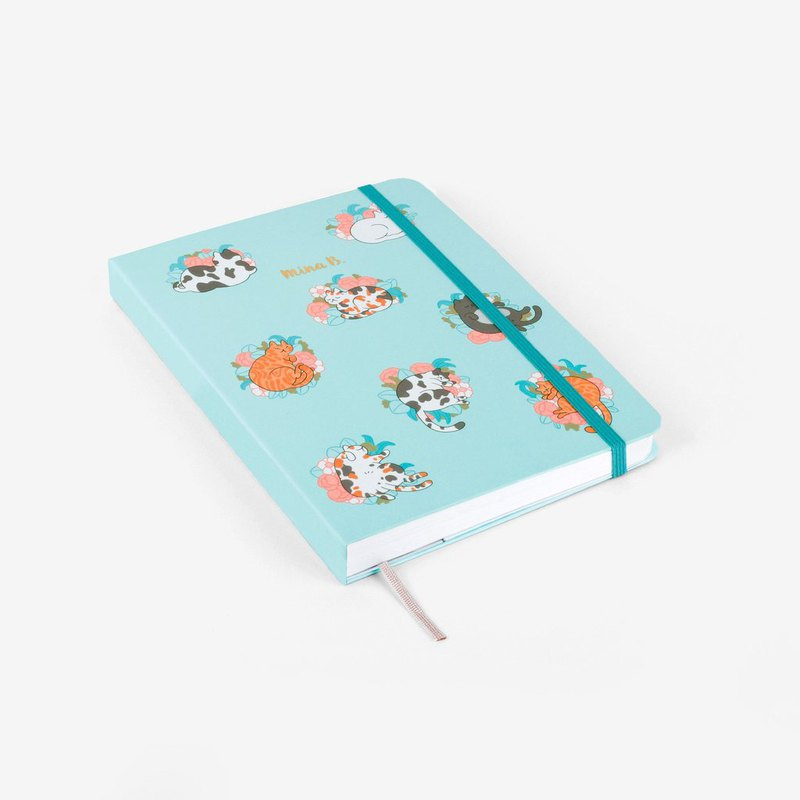 Blossom Cats Personalized Threadbound Notebook