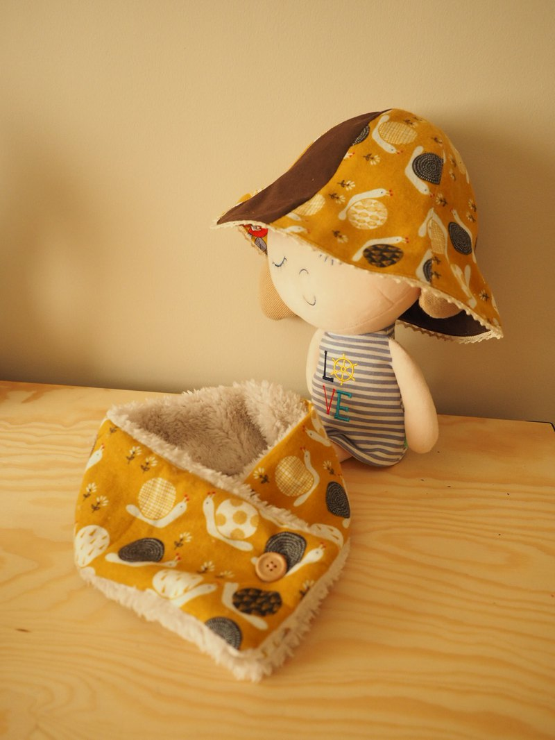 Handmade reversible hat and scarf gift set