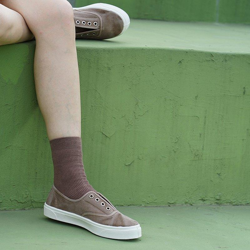 西班牙國民帆布鞋 CIENTA 10777 46 駝色 洗舊布料 大人