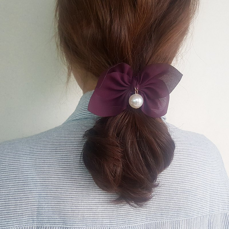 Simple purple ribbon mood Romantic Hair Scrunchie,shushu,Hair Tie