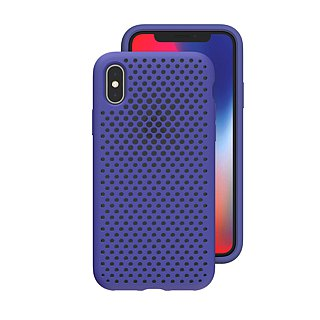 AndMesh-iPhone Xs Max dot soft crash protector - indigo (4571384959162