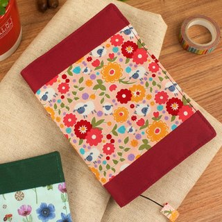 [Book's clothing] limited A6 / 50K adjustable multi-function cotton cloth book / cotton book cover -C lamb and flower / powder