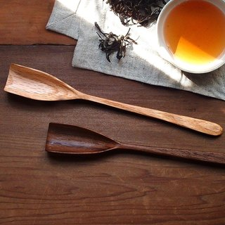 Clean up. Hand made wooden long handle tea 箦 - walnut / red oak