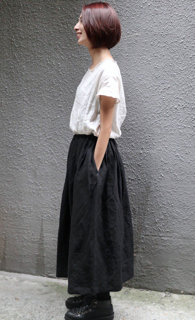 Customized time to sew a handmade linen skirt for yourself
