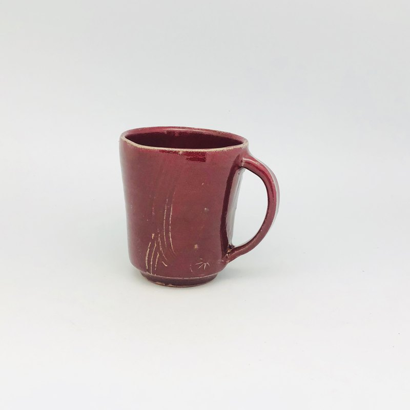 Copper red glaze mug