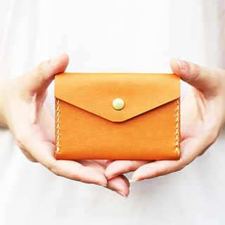 Morishita SENSIASHU / double fold business card holder / 11 colors in all / European yak cow leather