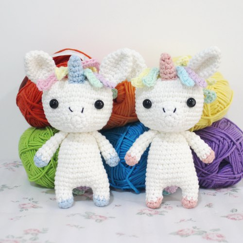 Mini Unicorn Unicorn Pair Pair Handmade crochet